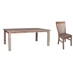 Driftwood 7PC - Dining Suite - Pine/Weathered Grey
