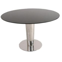 Majorca*1200 - Dining Table - Black Tempered Glass