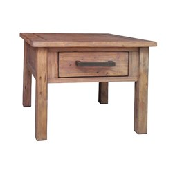 Driftwood - Lamp Table, 1 Drawer, Pine/Weathered