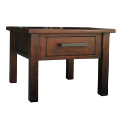 Farmhouse - Lamp Table, 1 Drawer - Pine/Tuscan Chestnut